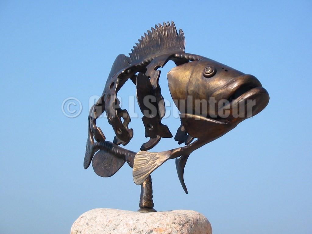 Sculpture métal art animalier gauger pierre lucien fers